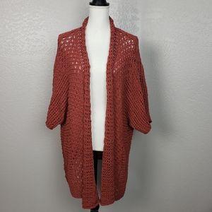 Soft Surroundings Long Knit Open Front Cardigan